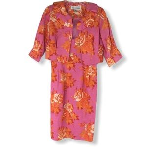 NWT Vtg 90's Sara Campbell 2 PC Dress Floral